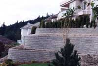 Terraced Retaining Wall with curves