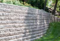 Segemental Retaining Wall with Curve